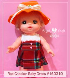 Mell Chan | Red Checker Baby Dress #160310 - Angel Loves2Craft