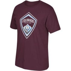 MLS Colorado Rapids Mens Oversized Logo Short Sleeve Tee, Men's, Size: Large, Red