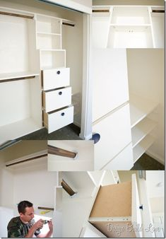 DIY- Fifty Dollar ! Custom Closet Tutorial And Installation Details ! AMAZING !