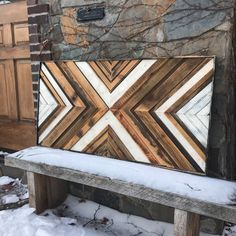 Reclaimed wood art designed and handcrafted by Anna BAILEY.