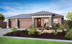 Simonds Group Display Homes: Flinders - St. Ives Facade. Visit www.localbuilders.com.au/display_homes_victoria.htm for all display homes in Victoria