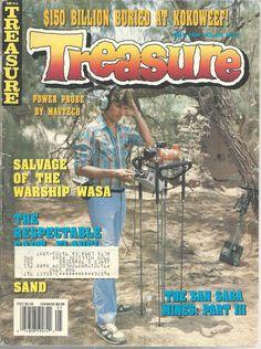 Treasure Magazine May 1991 San Saba Mines Warship Wasa Captain Flavel #doesnotapply
