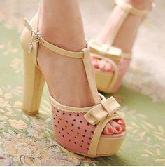 cute high heel sandals