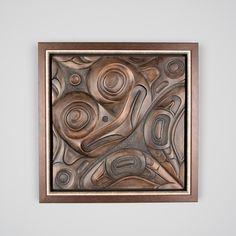 """Frog"" forton panel by Haida artist Don Yeomans"