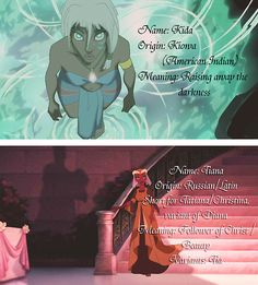 Meaning of Kida and Tiana.