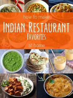 How to Make 11 of Your Favorite Indian Restaurant Dishes at Home - includes saag paneer, chicken tikka masala, mango lassi, and even naan! Going to be working on similar recipes very soon! I'm super excited to try out this naan recipe! Home Recipes, Indian Food Recipes, Asian Recipes, Vegetarian Recipes, Cooking Recipes, Healthy Recipes, Ethnic Recipes, Comida India, Gula