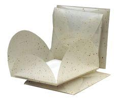 Enveloppe polypropylène en forme de fleur pour envoyer vos messages, vos invitations.
