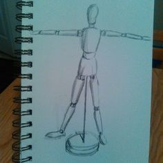 A  quick #pencil #sketch using my #mannequin in the position of the #vitruvianman  Starting more in depth work on the #humanform  #art #artistic #artoftheday #drawing #drawingaday #sketching #sketchaday #sketchbook