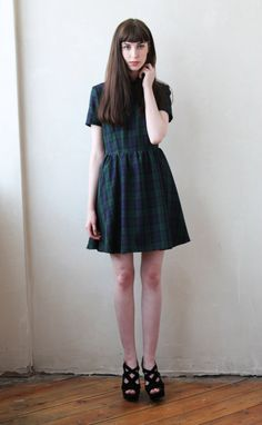 Hanna Tartan 1950s Skater Dress by moddolly on Etsy