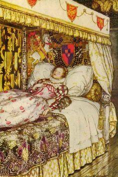 """Sleeping Beauty"" illustration by Arthur Rackham."