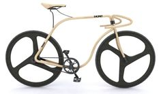 """""""Thonet Bike"""" is a concept of wooden fixie bike created by designer Andy Martin in collaboration with Thonet. Equipped with carbon fiber wheels, this Wooden Bicycle, Wood Bike, Motos Sexy, Velo Retro, Bike Craft, Hot Bikes, Cool Bicycles, Bicycle Design, Bent Wood"""