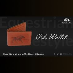 Equestrian fashion wallet.  The Riders Side presents The Polo Wallet. Classic Fashion.  Shop on www.theridersside.com