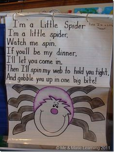 """Song, """"I'm a Little Spider"""""""
