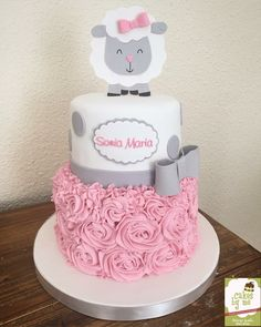 Baby girl shower cakes and cupcakes birthdays 43 ideas Torta Baby Shower, Tortas Baby Shower Niña, Girl Shower Cake, Baby Shower Cupcakes, Fun Cupcakes, Shower Cakes, Cupcake Cakes, Girl Baby Shower Decorations, Party Decoration