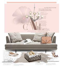 """Sem título #3333"" by sribeiro ❤ liked on Polyvore featuring interior, interiors, interior design, home, home decor, interior decorating, RAS, Aquazzura, ELK Lighting and Yves Saint Laurent"