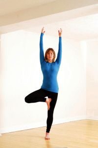 Scaravelli yoga teacher training course with Catherine Annis Vrksasana Tree