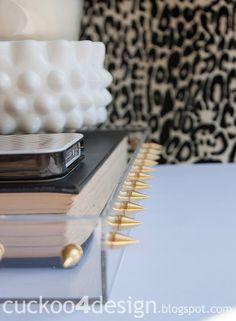 DIY studded acrylic/lucite tray - Cuckoo4Design