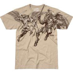 St Michael Vengeance Beige T-Shirt- 7.62 Design Graphic Military Tee Shirt
