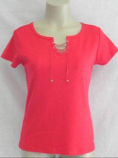 Pierre Cardin Short Sleeved T Shirt Top S Red NEW #PierreCardin #TShirt #Casual