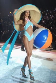 Barbara Fialho at the Calendar Girls Segment of the Victoria's Secret Fashion Show 2012