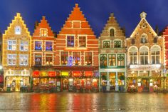 Old Markt square in Bruges by kavalenkava on Creative Market