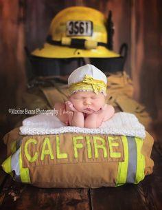 Los Angeles Newborn Baby Photographer. Beautiful Newborn, Fireman dad! Maxine Evans Photography Agoura Hills, California www.maxineevansphotography.com