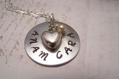 Friendship Necklace ... Soul Friend Necklace... Anam Cara in silver with Heart charm... Best Friend