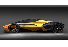 Car design and my life...: Side view Ferrari
