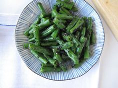 Green Bean Black Sesame Goma-Ae (Japanese sesame-seasoned vegetable side dish).