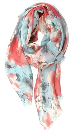 I love the beautiful colors and the femininity of the floral pattern in this scarf!! January Stitch Fix Review, Giveaway and Link-Up - Page 2 of 2 - Crazy Together