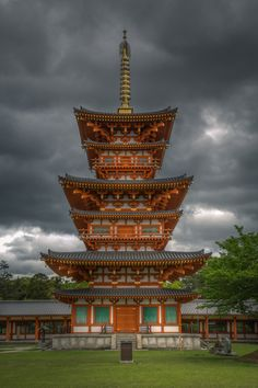 Pagoda against an amazing sky! #Nara, #Japan