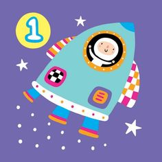 Age 1 rocket | Cards from Postmark Online