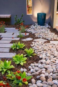 Adorable 62 Fabulous Front Yard Rock Garden Ideas https://homeylife.com/62-fabulous-front-yard-rock-garden-ideas/