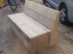 bank steigerhout zonder leuning