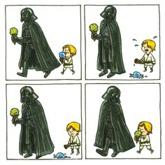 Darth Vader and Son by Jeffrey Brown. Click to enlarge.