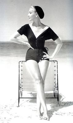 wasbella102:  Wasp-waisted playsuit by Claire McCardell, circa 1953...when women had curves!   <3