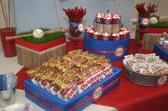 Dessert table event photos, First Birthday Table, Cheer Party Table, Vintage Table, Baseball Party Table Vintage First Birthday, Baseball Theme Birthday, Boys First Birthday Party Ideas, Kids Birthday Themes, Baby Boy Birthday, Boy Birthday Parties, Birthday Table, Baseball Party Favors, Sleepover Party