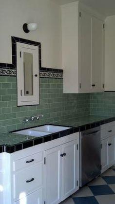 1930s restored kitchen