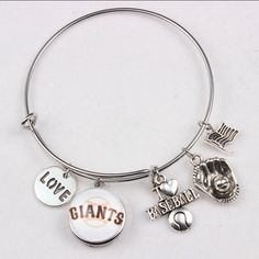 A personal favorite from my Etsy shop https://www.etsy.com/listing/462929260/giants-baseball-charm-expandable-bangle
