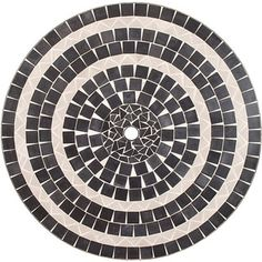Delmar Black and Gray Tile Top Table with Umbrella Hole - Free Shipping Today - Overstock.com - 14248509 - Mobile