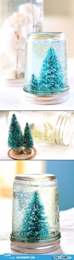 Mason Jar Snow Globe Tutorial | DIY