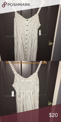 Old Navy Blue and Cream Striped Sundress NWOT Cotton striped dress. Great for Summer Old Navy Dresses Midi