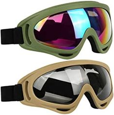 ELECOOL Ski Goggles 2 Packs, Multicolor Lenses Snow Goggles with Wind Dust UV 400 Protection for Women Men Kids Girls Boys Winter Snowboard Snowmobile Skiing Best Ski Goggles, Snowboard Goggles, Oakley Sunglasses, Sunglasses Women, Best Skis, Kids Girls, Boys, Skiing, Lenses