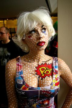 Lichtenstein Pop Art Kostüm selber machen   Kostüm Idee zu Karneval, Halloween & Fasching