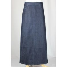 Girl's Classic Simple Long Jean Skirt, Sizes 2-18 ($17) ❤ liked on Polyvore