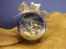 Risultati immagini per decorazione sfere natalizie con presepio