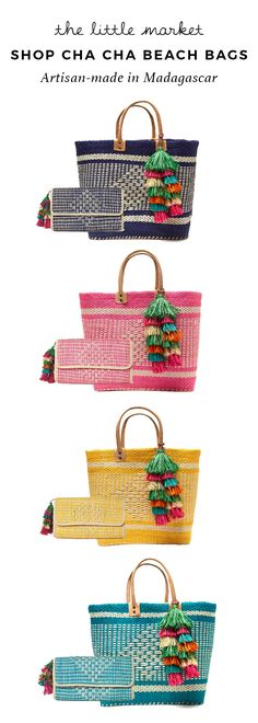 Our Cha Cha Beach Bag is the best beach day accessory and perfect for toting your outing essentials. Choose from your favorite vibrant colors!