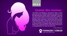 Dica 6 da campanha 10 dicas contra o Câncer desenvolvida para a Fundação do Câncer - Lançada no dia 27 de novembro , Dia Nacional de Combate ao Câncer