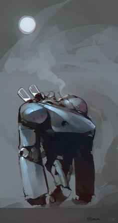Grumble by Mr--Jack on deviantART robot illustration