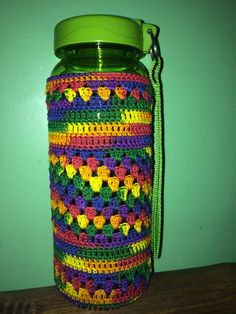 Here is a free crochet pattern of a convenient water bottle holder crochet tumbler sleeve using aunt lydias crochet thread 10 mexicana dt1010fo
